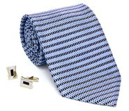 Man cuff links and tie Royalty Free Stock Photo