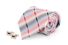 Man cuff links and tie  isolated Stock Image