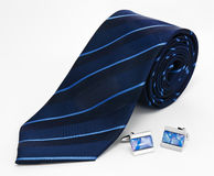 Man cufflinks and tie Royalty Free Stock Photos