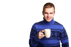 Man with cup Stock Photo