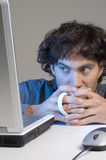 Man and cup Stock Photography