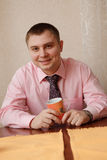 Man with a cup of tea Stock Photos