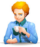 A man with a cup of tea Stock Photo