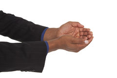 Man - cupped hands Royalty Free Stock Images