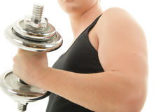 Man Curling Dumbbell Royalty Free Stock Image