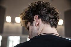 Man with curly hair Stock Photos