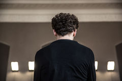 Man with curly hair Royalty Free Stock Photos