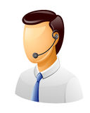 Man Customer support icon Royalty Free Stock Images