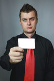Man with cut-away Stock Photo
