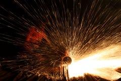 Man cutting steel Stock Image