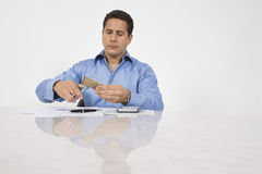 Man Cutting Up Credit Card Royalty Free Stock Photo