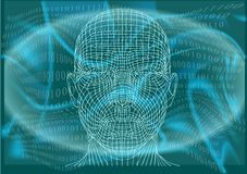 Man in cyberspace Royalty Free Stock Photo