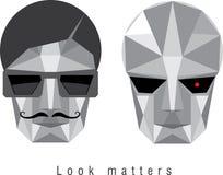 Man and cyborg Stock Image