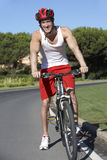 Man On Cycle Ride Stock Images