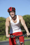 Man On Cycle Ride Royalty Free Stock Photography