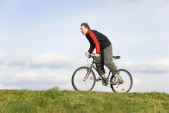 Man cycling Stock Photo