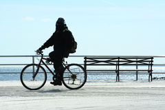Man cycling Stock Images