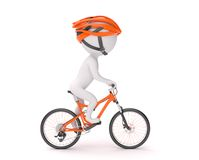 Man cycling Stock Photography