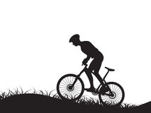 Man cycling silhouette Stock Photography