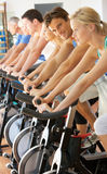 Man Cycling In Spinning Class Royalty Free Stock Photography