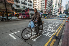 Man cycling on the streets, China Stock Images