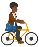 Man cycling to work Royalty Free Stock Images