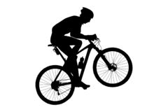 Free Man Cyclist Mountain Biker Stock Images - 131890234