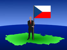Man with Czech flag Stock Photo