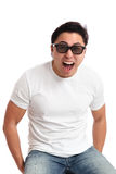 Man in 3D glasses Royalty Free Stock Images