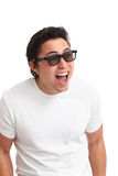 Man in 3D glasses Stock Images