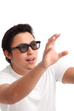 Man in 3D glasses Stock Photos