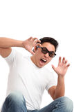 Man in 3D glasses Royalty Free Stock Photo