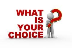 man 3d vad är ditt val Arkivbild