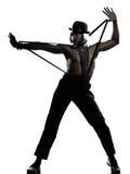 Man dancer dancing cabaret burlesque Royalty Free Stock Images