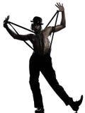 Man dancer dancing cabaret burlesque Stock Photos
