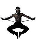 Man dancer dancing cabaret burlesque Stock Images