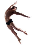 Man dancer gymnastic jump Royalty Free Stock Photos