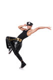 Man dancer isolated Royalty Free Stock Photography