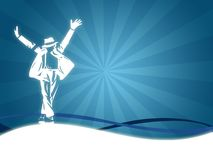 Man Dancing. Illustration with a silhouette of a men dancing Stock Photography