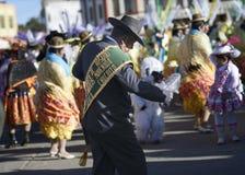 Man dancing at the Festival honoring Virgen del Rosario, Chucuito Province, Puno Region, Peru. Stock Image