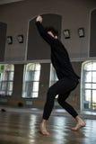 Man dancing at gym Royalty Free Stock Photo