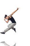 Man dancing isolated Stock Image
