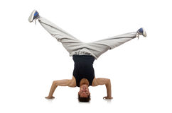 Man dancing isolated Royalty Free Stock Images