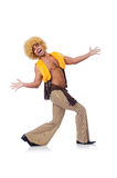 Man dancing isolated Stock Photography
