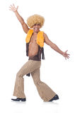 Man dancing isolated Royalty Free Stock Image