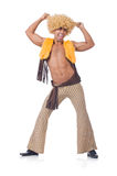 Man dancing isolated Stock Images