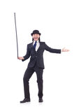 Man dancing with walking stick Royalty Free Stock Photography