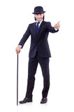 Man dancing with walking stick Stock Photos