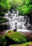 Man dang waterfall Stock Image