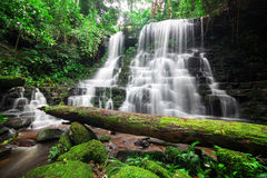 Man dang waterfall Stock Photo